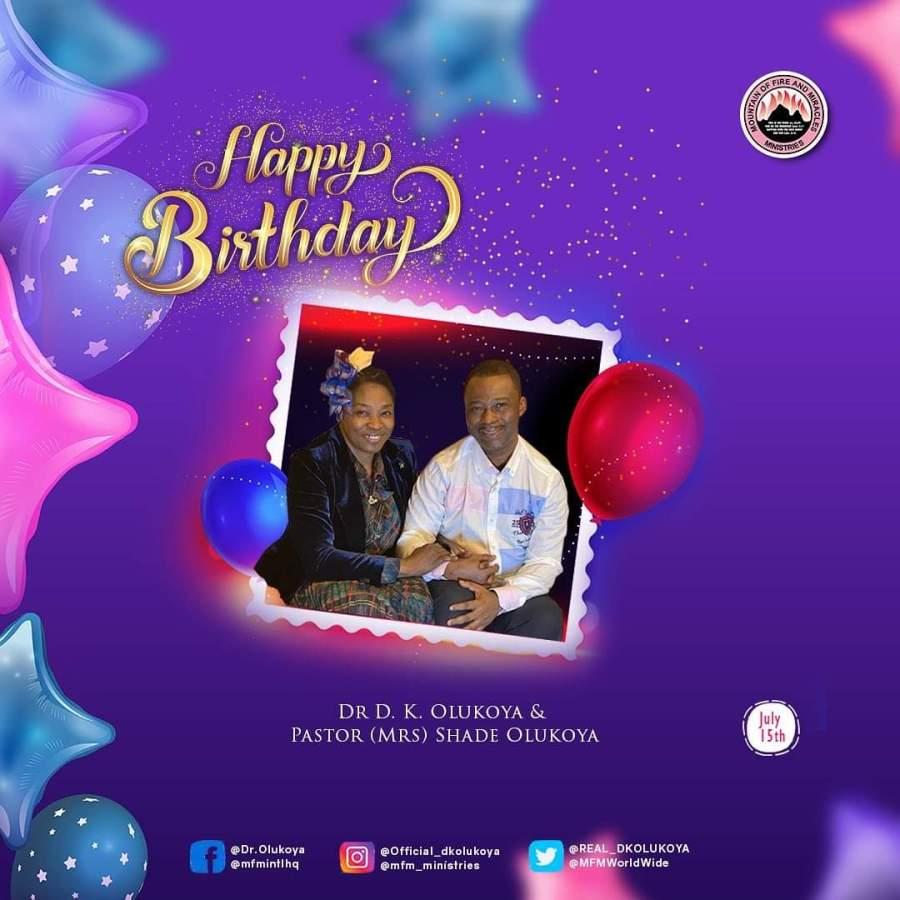 Happy birthday to Dr. D.K Olukoya and Pst. (Mrs) ShadeOlukoya,